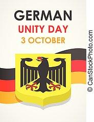 isometric, conceito, alemão, estilo, unidade, fundo, dia, feliz