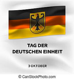 isometric, conceito, alemão, estilo, unidade, fundo, outubro, dia