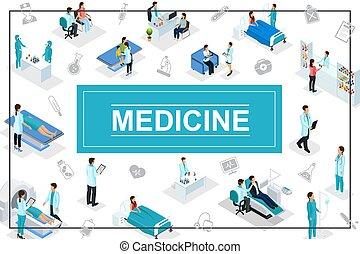 isometric, conceito, cuidados de saúde