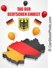 isometric, conceito, deutschen, estilo, fundo, einheit