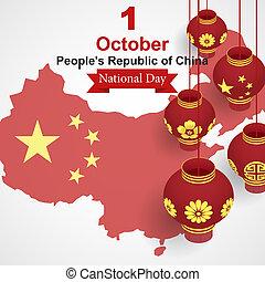 isometric, conceito, pessoas, nacional, estilo, fundo, china, dia