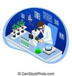 Isometric concept of laboratory exploring new methods of ...