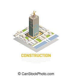 Isometric Construction Composition