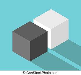 Isometric couple of cubes