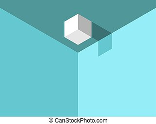 Isometric cube on ceiling