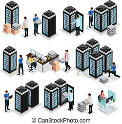 Isometric Data Center Collection - Isometric data center ...