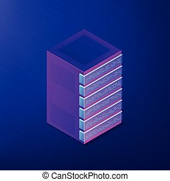 Isometric database and big data concept.