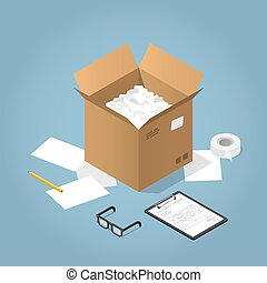 Isometric Delivery Vector Illustration