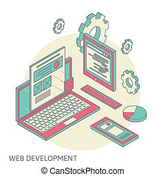 mobile and desktop website design development process -...
