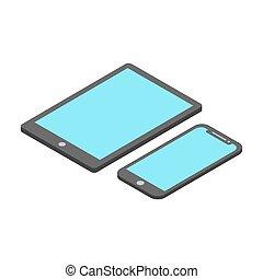 isometric design smart phone