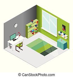 Isometric Designer Workplace Template
