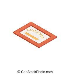 Isometric Diploma Icon