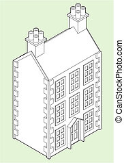 Isometric Dolls House Drawing