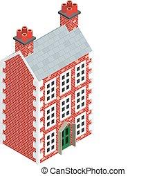 Isometric Dolls House Drawing