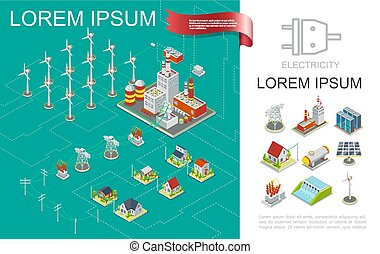 Isometric Electricity Production Composition