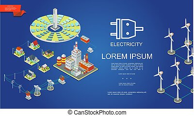 Isometric Electricity Production Concept