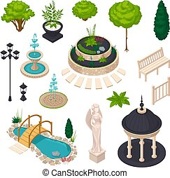 Isometric Elements For City Landscape Constructor -...