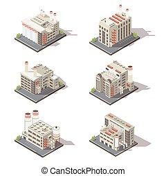 Isometric Factory Icon Set
