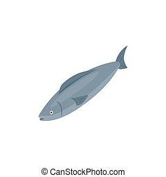 Isometric Fish Icon