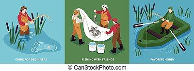 Isometric Fishing Design Concept
