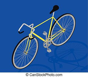 isometric fixed gear bicycle vector illustratio - fixed gear...
