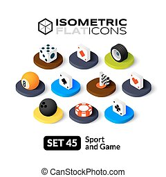 Isometric flat icons set 45 - Isometric flat icons, 3D...