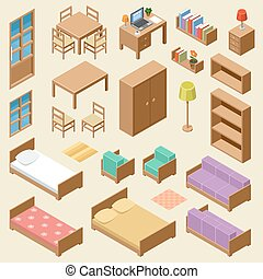 Isometric furniture set