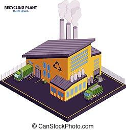 Isometric Garbage Illustration