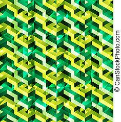 Isometric geometric pattern - Isometric geometric vector...