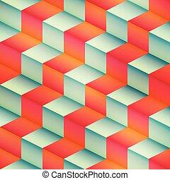 Isometric geometric seamless pattern