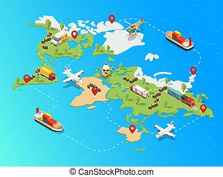 Isometric Global Logistic Network Template
