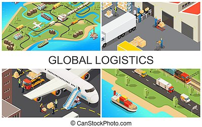 Isometric Global Transportation Composition