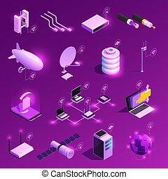 isometric, globalt netværk, iconerne