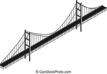 isometric, hängbro
