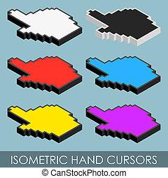 Isometric hand cursors