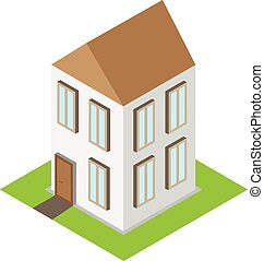 Isometric home 3d house vector
