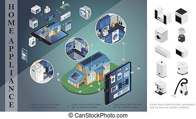 Isometric Home Appliances Concept