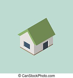 Isometric home house icon. Vector eps10