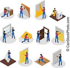 Isometric Home Repair Set