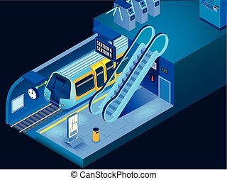 Isometric Horizontal Underground Illustration
