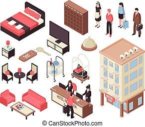 Isometric Hotel Set