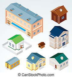 Isometric House and Buildings