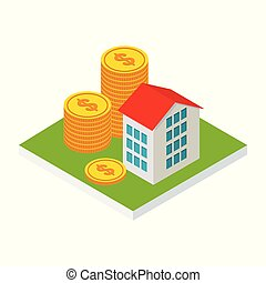 isometric house money