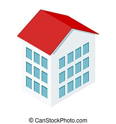Isometric house on a white background. Private property.