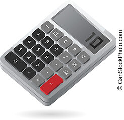 Isometric icon of calculator - Gray isometric calculator. ...