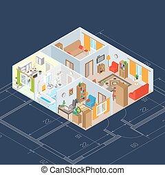 Isometric Interior Concept