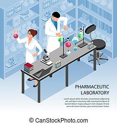 Isometric Laboratory Illustration