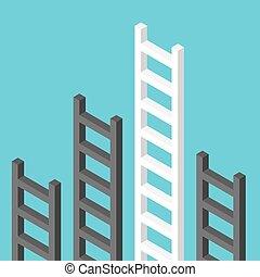 Isometric ladders, one unique