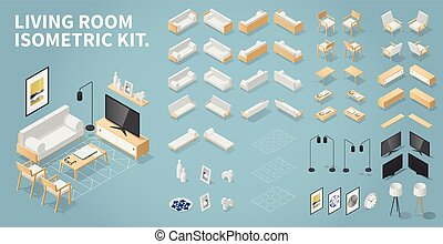 Isometric Living Room Kit