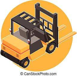 Isometric loader icon